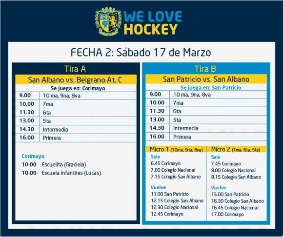 Hockey: Actividades del 17 de marzo