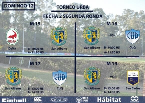 Rugby Juvenil - Domingo 12-8