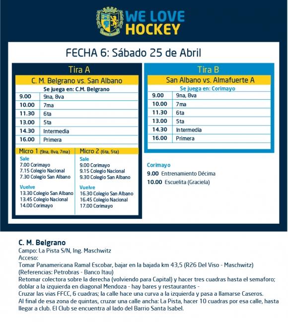 Hockey: Actividades del 25/4