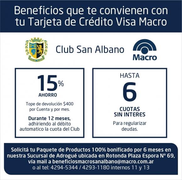 Beneficios de Macro para socios de nuestro Club