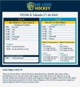 Hockey: Actividades del 21 de abril