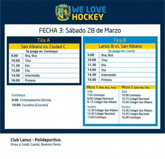 Hockey: Actividades del 28/3