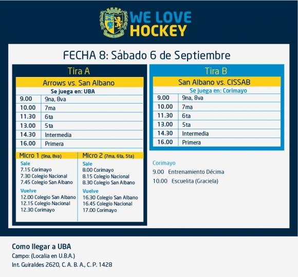 Hockey: Actividades del 6/9