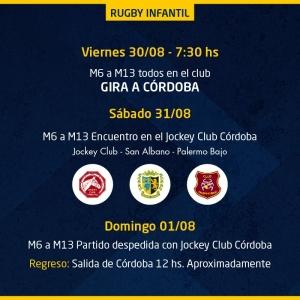 Actividad de Rugby Infantil 31/8