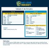 Hockey: Actividades del 5 de octubre