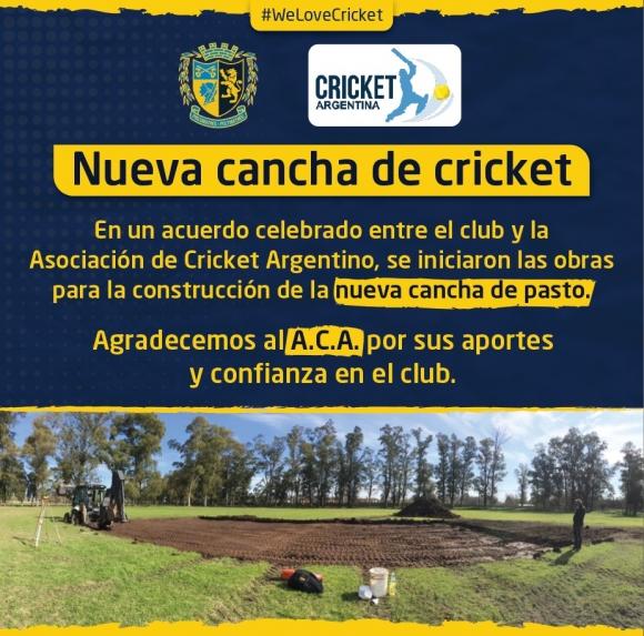 ¡Nueva cancha de Cricket!