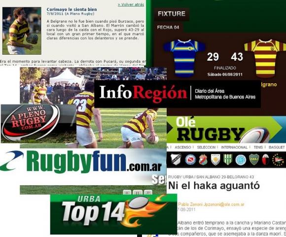 San Albano en los medios (Fecha 4 Top 14)
