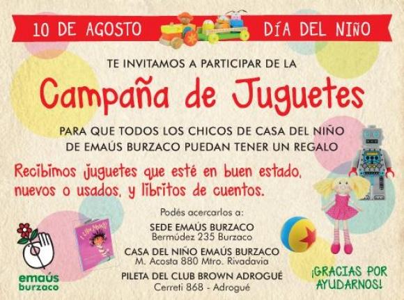 Campaña de Juguetes para el Día del Niño