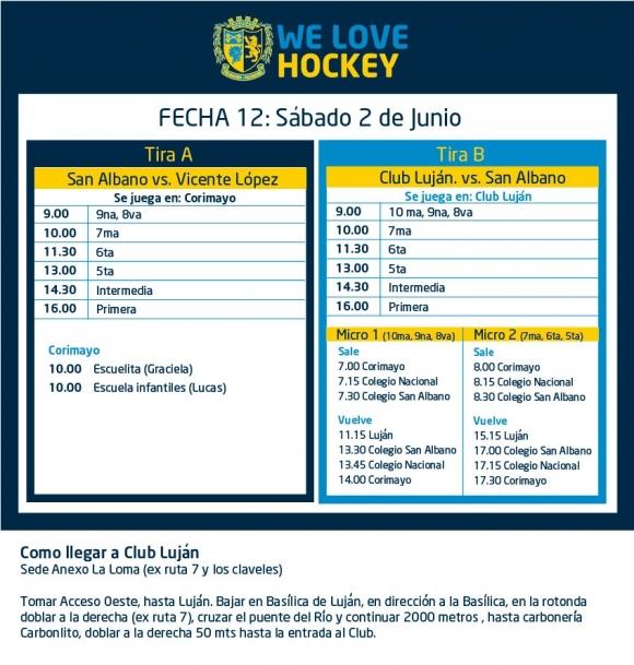 Hockey: Actividades del 2 de junio