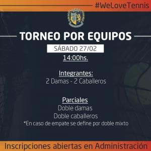 ¡Nuevo torneo de tenis en el Club!
