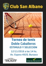 Tenis: torneo de doble caballeros 2016