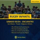 Rugby Infantil: Encuentro ante Pucará y Belgrano