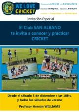Vení a la Escuela de Cricket en San Albano
