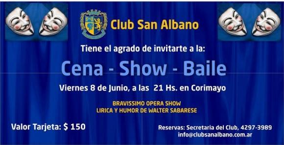 Cena-Show-Fiesta en el Club House