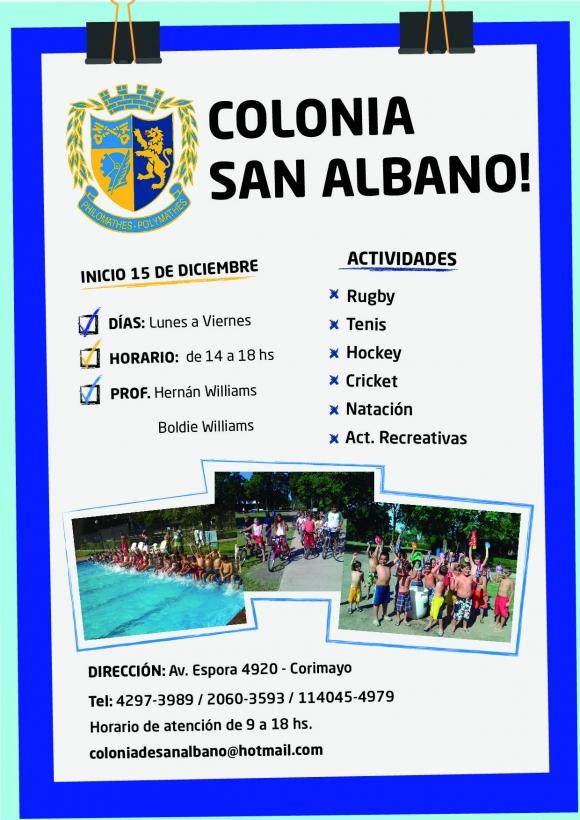 Colonia en San Albano! Temporada 2015