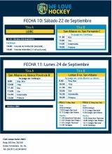 Hockey: Actividades del 22  y 24 de septiembre