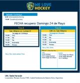 Hockey: Actividades del 24/5