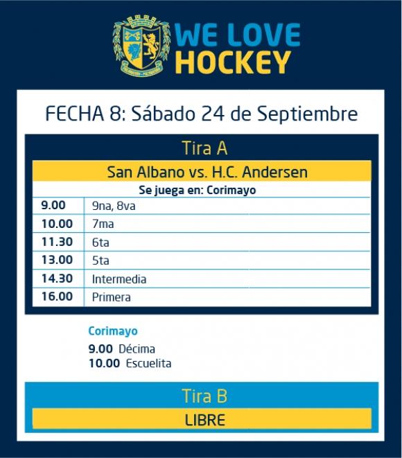 Hockey: actividades del 24 de septiembre